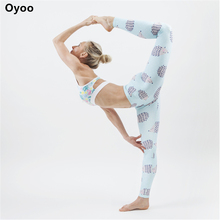 Buy Oyoo Summer Animal Print Jogging Yoga Pants hedgehog Sport Workout Leggings Comfy Gym Fitness Legging Blue Sport Tights for $19.99 in AliExpress store