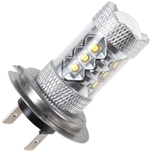 2Pcs H7 80W High Power LED Car Auto Driving Fog Tail Headlight Light Lamp Bulb White 12V 6000K H7 Xenon Bulb Auto Light