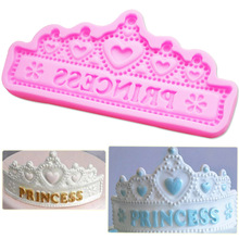 M657 Hot NEW Cake Decoration tools Princess Crown Silicone mold baking candy confeitaria Fondant Moulds
