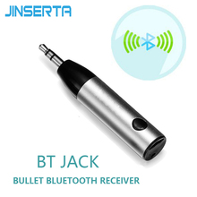 JINSERTA Mini Wireless Bluetooth 4.1 Car Kit Hands free 3.5mm Jack Bluetooth Audio Receiver Adapter AUX for Speaker Headphone(China)