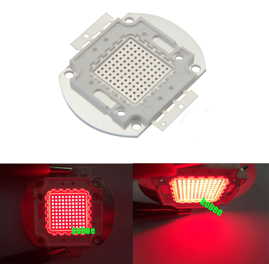 CHTPON 100W 660nm High Power LED Chip Deep Red 660nm DIY Light for Plant(China (Mainland))