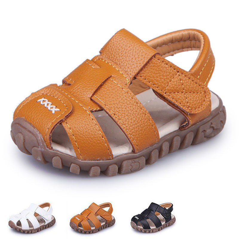 Boys Sandals Summer Shoes Toddler Closed-Toe Girls Baby Sport Children New Soft CSH130