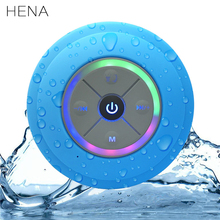 HENA Waterproof Bluetooth Speakers Mini Wireless Portable Hands-free TF Card FM Radio Subwoofer Audio LED Music Speakers(China)