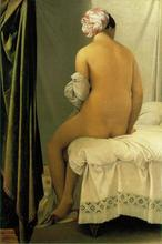 Free shipping 100% hand painted most famous artists painting reproduction Ingres oil painting Bather-of-Valpincon(China)