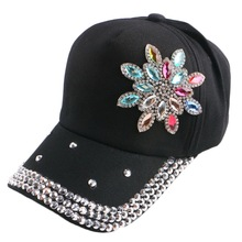 2016 new most popular women girl boy kids small floral black white fuchsia baseball cap simple adjustable cute snapback hats