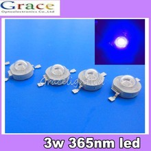 5pcs 3W UV ultraviolet 365nm high power LED 3watt purple Light #D(China)