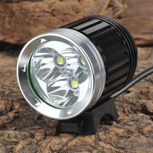 High Brightness Bicycle Light 3000lm White Light T6 4-mode LED Flashlight LED Bike Light 18650 Battery Pack + Charger