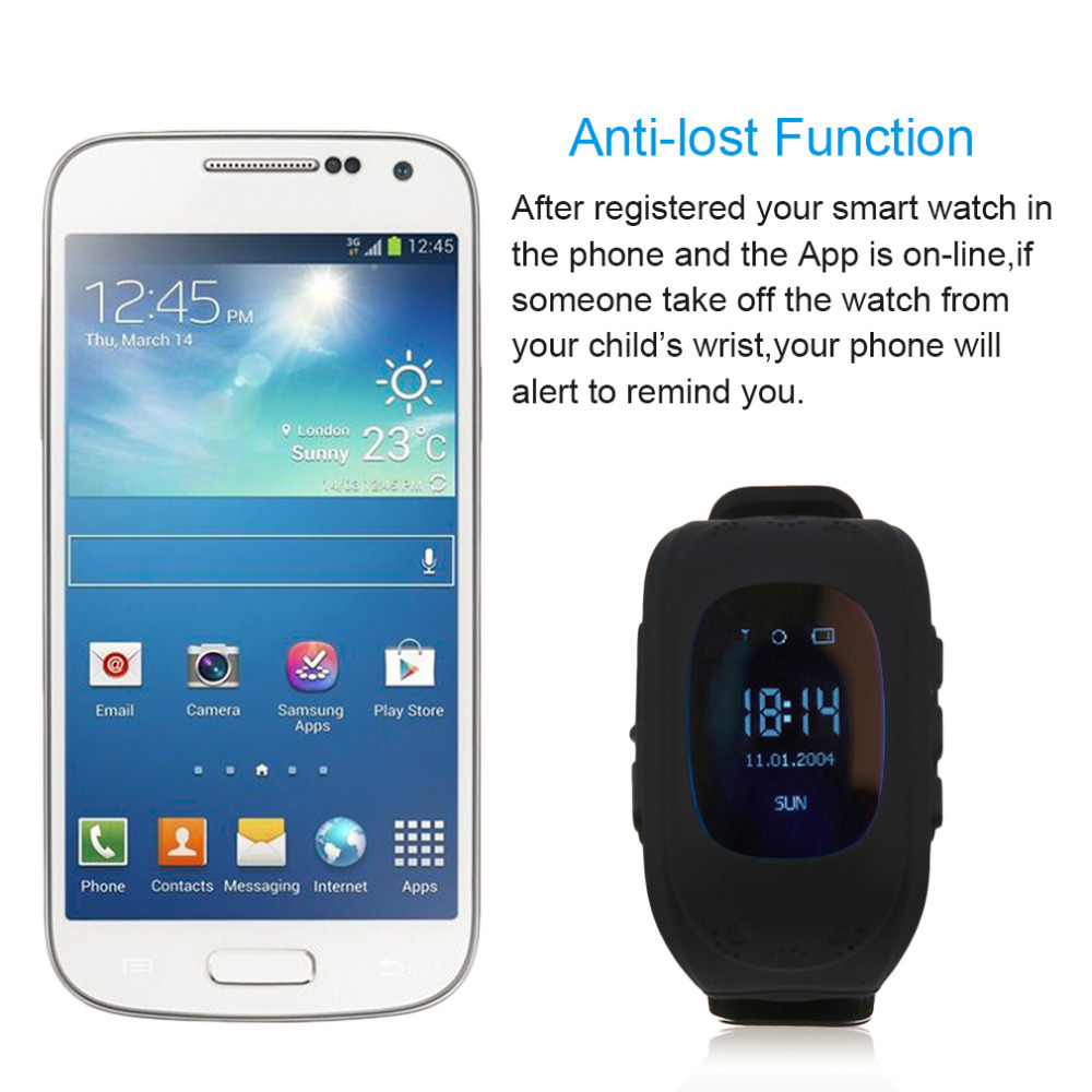 Q50 Smart Watch for Kids Children LCD GSM GPRS Locator Tracker Anti-Lost phone support Kids Watch for IOS Android Without GPS 10