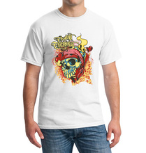 Fashion Men O-Neck T Shirt Swag Punk Rock Mens 3d T-shirt Skull tshirt Buddha Tee Shirts Casual Streetwear