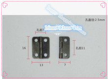 Hardware supplies Rounded  four points hinge antique small box  hinges 16mm*13mm*0.5mm
