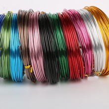5meter/lot 15 gauge anodized aluminum craft wire roll coil soft DIY jewelry craft versatile painted aluminium metal wire
