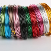 5meter/lot 15 gauge anodized aluminum craft wire roll coil soft DIY jewelry craft versatile painted aluminium metal wire(China)