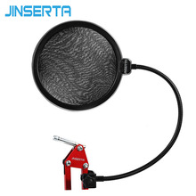 JINSERTA Microphone Wind Screen Pop Filter Mask Shield Flexible Professional Condenser Mic BOP Cover for Broadcast Record
