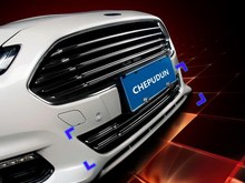 Car Styling!Fashion!Set of 2pcs Chrome Front Bottom Grille Cover Trim for Ford Fusion 2013 2014(Only for North American Model)(China)