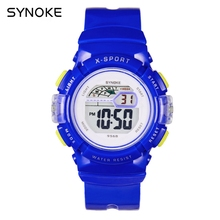 SYNOKE Students Digital Watches Multifunction Electronic Watch Child Kids Boy's Girl's Date Alarm Stopwatch Rubber Wrist Watch