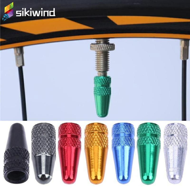 5pcs Bicycle Tire Wheel Presta High Aluminium Pressure Valve Caps Dust Covers