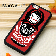 russian matryoshka doll Printed Soft TPU Protective Shell Skin Phone Case For iPhone 6 6S Plus 7 7 Plus 5 5S 5C SE 4 Back Cover