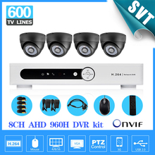 8ch AHD 960P CCTV DVR System 4pcs 600TVL indoor IR Cameras 8 channel DVR Kit Security Camera surveillance System SK-194