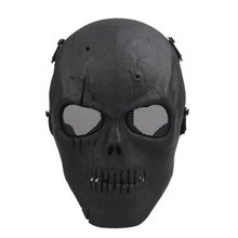 FLST Airsoft Mask Skull Full Protective Mask Military - Black(China)