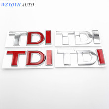 Car 3D TDI Badge Emblem Decal Sticker Logo for VW Golf JETTA PASSAT MK4 MK5 MK6 skoda seat Car styling car accessories