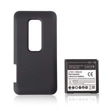 New Extended 3500mah Rechargeable Commercial Battery + Back Case For HTC EVO 3D battery