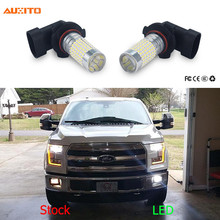 2x 9005 9006 LED Car Fog Light 144 LED 3014 SMD For Ford Focus 3 2 1 Fiesta Mondeo MK4 MK 4 Transit Fusion Kuga Ranger Mustang