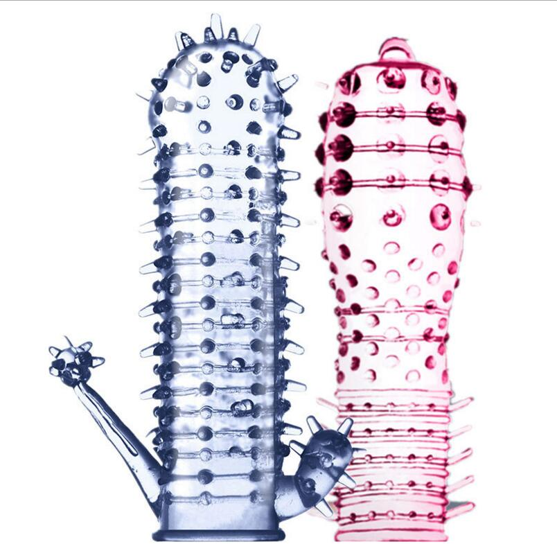 Reusable G Spot Stimulation Condom Penis Extensions Sleeve Cock Ring Penis Delay Extender Sex Products Erotic Toys Men