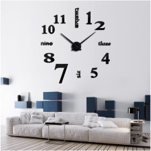 2017 Large Mirror Wall Clocks Modern Design For Gift  3D DIY Big Watch Wall stickers  Home Decor Relogio De Parede Free Shipping