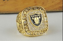 2015 Free Shipping Fashion New Arrival Sport Men Jewelry Oakland Raiders Super Bowl XVIII Championship Rings size 11(China)