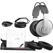 Hot selling white color Superlux hd681evo Dynamic Semi-open Professional Audio Monitoring Headphones Detachable Audio Cable(China)