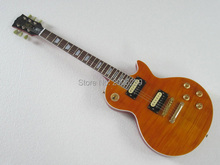Hot Sale LP guitar tiger striped maple cover slash guitar high quality standard gold hardware free shipping