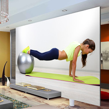 Yoga sports Fitness Photo Wallpaper Wall Mural Custom Silk Wallpaper Gym decoration Girls Bedroom Decor Sofa TV background wall