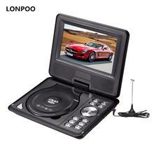 LONPOO Portable DVD Player 7 Inch Dvd Player Divx Usb RCA Portable TV DVD Player With Battery MP3 MP4 GAME DVD Player Portable(China)