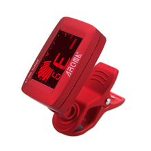 Aroma AT-200 Clip-on Electric Tuner Guitar Tunner Three Colors Backlit LCD Screen for Guitar  Bass Ukulele Universal Portable