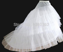 2016 Cheap Medium Size White Bridal Crinoline Chapel Court Train Wedding Dress Petticoat