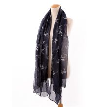 New Swallow Scarf Chiffon Birds Animal Print Shawl Girlfriends Gift
