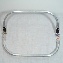 8 inches Metal tubular internal purse frames hinge