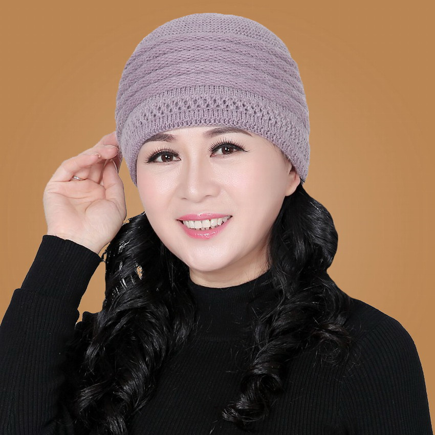 Winter hat womens thermal knitted hat rabbit fur cap fashion knitted hat cap quinquagenarian beret hat year gift mothers beretОдежда и ак�е��уары<br><br><br>Aliexpress