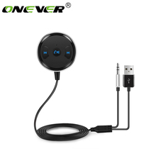 Onever Wireless 3.5mm Bluetooth Receiver Hands Free Car Kit AUX A2DP Streaming Kit Support Siri for Speaker Headphone Car Stereo(China)