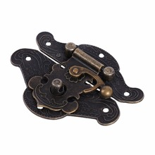 5pcs/Set Vintage Decorative Latch hasp Pad Chest Lock Plate For Wooden Jewelry Box Cabinet Durable Wholesale