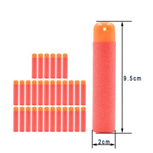 30Pcs 9.5x2cm Red Sniper Rifle Bullets Darts for Nerf Kids Toy Gun Foam Refill Darts Big Hole Head Bullets Christmas Gift