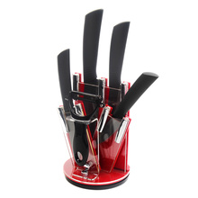 "Best Ceramic Knife Set 6 "" 5 "" 4 "" 3 "" Chef Slicing Utility Paring Kitchen Knife & Ceramic Peeler+Knife Holder Cooking Tools Set"