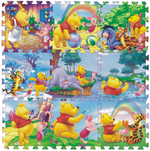 9Pcs Winnie Crawling Gym Rug Cartoon Floor Play Mat Baby Climb Blanket Game Carpet Eva Foam Puzzle Game Playmat Baby Toys Gifts