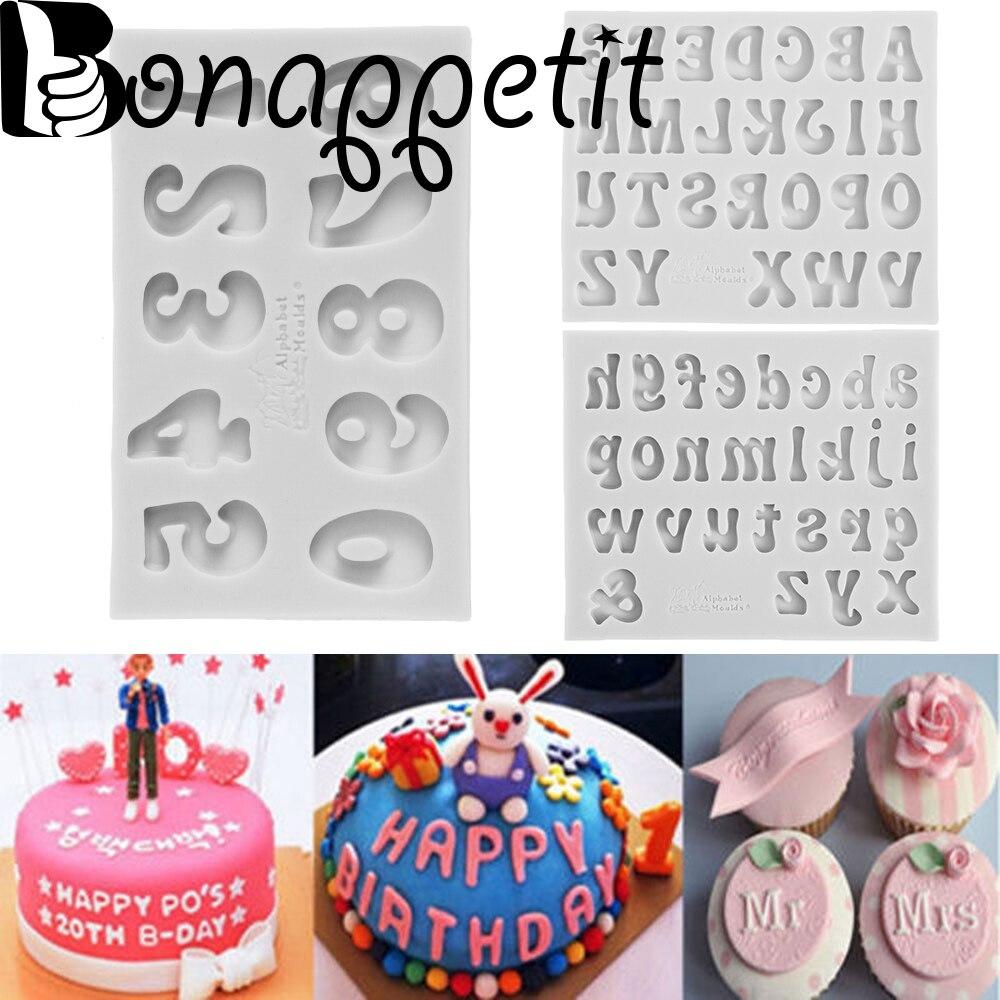 Bakeware Kitchen Mould Cake Fondant Capital Letter Alphabet Silicone Mold