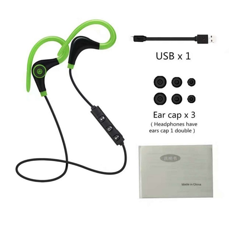 Portable Bluetooth Earphone Wireless Headset Sport Stereo Music Earbuds Earphones with Microphone for iPhone Samsung xiaomi MP3 (3)