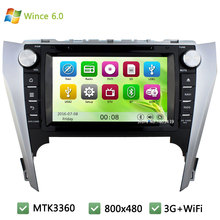 Wince 6.0 MT3360 3G WIFI HD 1080P Car DVD Player Radio Audio Stereo Screen GPS Navigation For Toyota Camry 2012 2013 2014