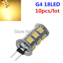 free shipping special offer 10pcs 4W G4 Base 5050 SMD 18 LED Home Marine Light Car Bulb Lamp DC12V
