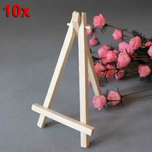 10pcs Mini Wooden Cafe Table Number Easel Wedding Place Name Holder Mobile Stand Hogard(China)