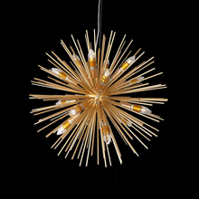 NEW Golden 12 retro personalit dandelion metal ornaments designer stainless steel ball process spherical geometry Pendant Lights