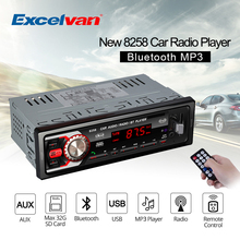 8258 Car Radio 1 Din Bluetooth LED Display 7377IC FM/SD/MMC/USB/AUX Input Autoradio Auto Audio Stereo Media Receiver MP3 Player